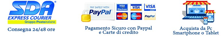 pagamento Sicuro con paypal e carte di credito, SDA consegna accessori per ufficio